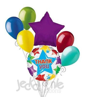 Thank You Colorful Stars Balloon Bouquet