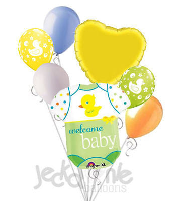 Welcome Baby Duck Onesie Balloon Bouquet