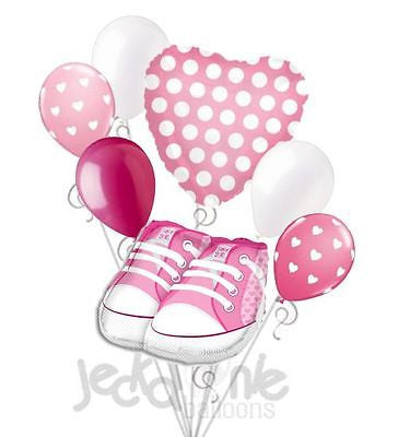 Pink Baby Girl Shoes Balloon Bouquet