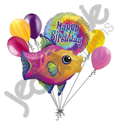 Fanciful Fish Happy Birthday Balloon Bouquet
