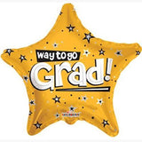 Gold Way to Go Grad Star Balloon