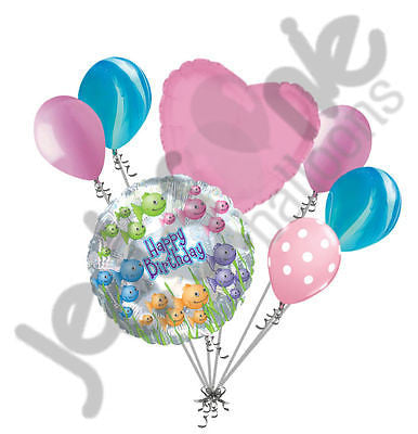 Clear Fishbowl Happy Birthday Balloon Bouquet