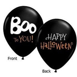 Boo to You! Happy Halloween Latex Balloons