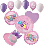 It's a Baby Girl Rattle Balloon Bouquet
