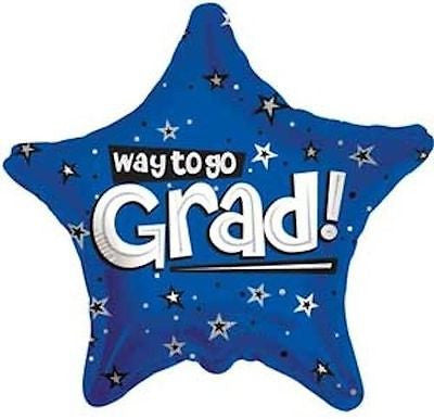 Blue Way to Go Grad Star Balloon