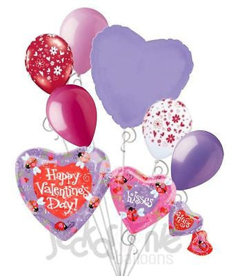 Ladybug Hearts Happy Valentines Day Balloon Bouquet