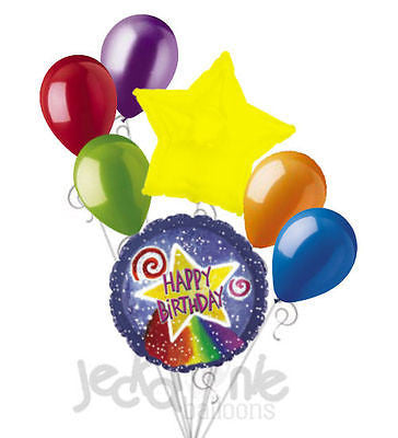 Watercolor Shooting Star Happy Birthday Balloon Bouquet
