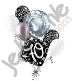 Elegant Happy 70th Birthday Sparkles Balloon Bouquet