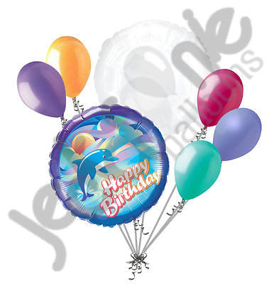 Jumping Dolphin Happy Birthday Balloon Bouquet