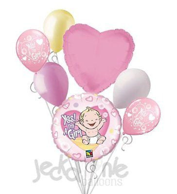 Yes I'm a Baby Girl Balloon Bouquet