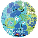 Tropical Breeze Hibiscus Flowers Luau Balloon Bouquet
