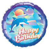 Pink Delightful Dolphin Happy Birthday Balloon Bouquet
