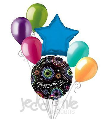 New Years Eve Colorful Bursts Balloon Bouquet
