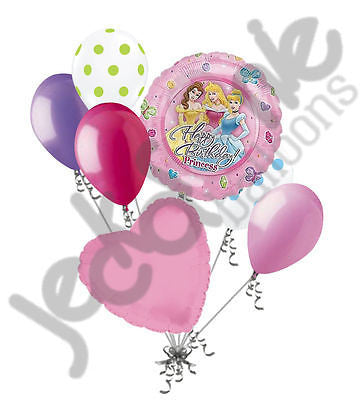 Disney Princess Happy Birthday Balloon Bouquet