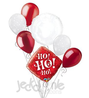 Red Ho Ho Ho Snowflakes Christmas Balloon Bouquet