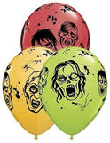 Qualatex Colorful Zombies Halloween Latex Balloons