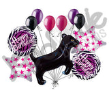 Black Panther Happy Birthday Balloon Bouquet