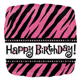 Fabulous Zebra Happy Birthday Balloon Bouquet