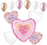 Pink Ruffles & Flowers Happy Mother's Day Balloon Bouquet