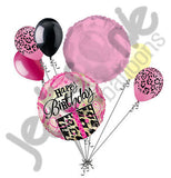 Leopard Animal Present Happy Birthday Balloon Bouquet
