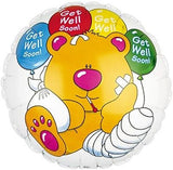 Get Well Soon Teddy Bear Bandages Balloon Bouquet