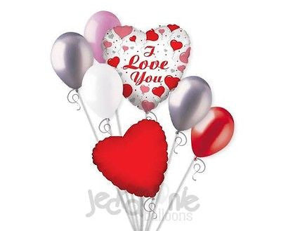 I Love You Hearts Balloon Bouquet