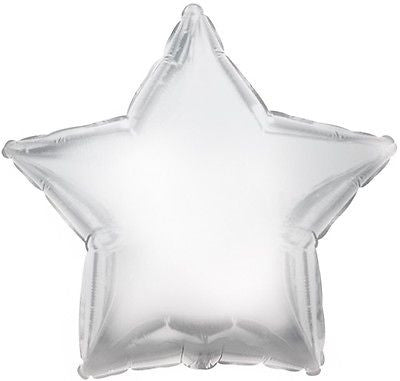 Silver Star Decorator Balloon