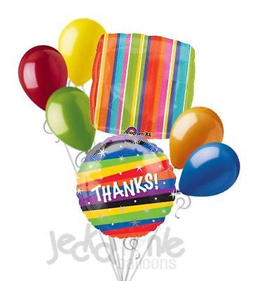 Thanks! Colorful Stripes & Stars Balloon Bouquet