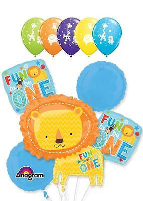 Lion Fun to be One 1st Birthday Balloon Bouquet