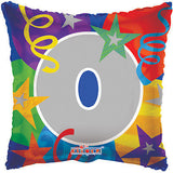 Party Number Square Balloon