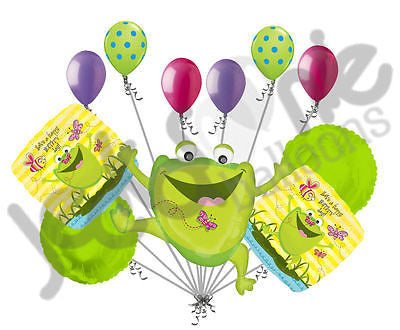 Jumping Frog Happy Birthday Balloon Bouquet