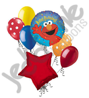Elmo Happy Birthday Sesame Street Balloon Bouquet