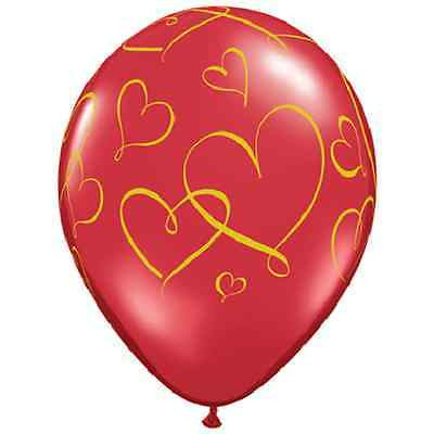 Qualatex Romantic Hearts Latex Balloons