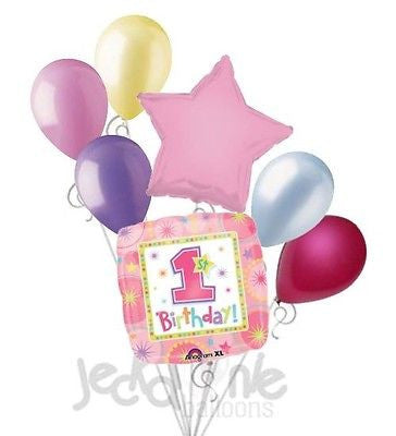 Pink Onederful 1st Birthday Balloon Bouquet