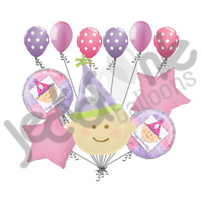 Happy Baby Girl 1st Birthday Balloon Bouquet