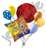 Party Pup Happy Birthday Balloon Bouquet