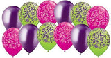Lime Green Damask Coordinated Latex Balloons