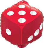 Casino Poker Heart, Club, Spade, & Diamond Balloon Bouquet
