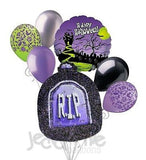 Purple RIP Tombstone Halloween Balloon Bouquet
