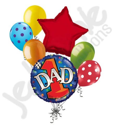 #1 Dad Happy Father's Day Balloon Bouquet