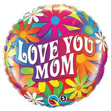 Psychadelic Daisy Love You Mom Balloon Bouquet
