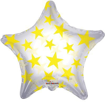 Yellow Stars on Clear Star Decorator Balloon