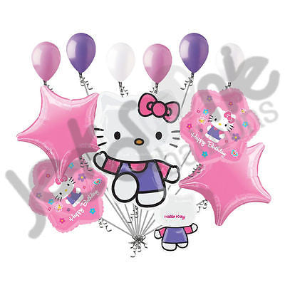 Purple Hello Kitty Flower Balloon Bouquet