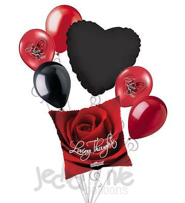 Loving Thoughts Red Rose Balloon Bouquet