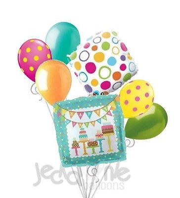 Sweet Shoppe Cakes Happy Birthday Banner Balloon Bouquet
