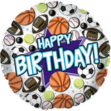 All-Star Sports Cluster Happy Birthday Balloon Bouquet