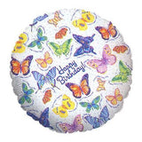 Monarch Beautiful Butterfly Happy Birthday Balloon Bouquet