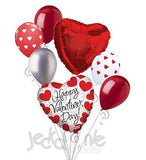 Prismatic Hearts Happy Valentines Day Balloon Bouquet