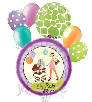 Oh Baby! Modern Mommy Baby Shower Balloon Bouquet