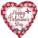 Pink & Red Dots Happy Valentines Day Balloon Bouquet